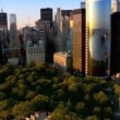 Aerial view of Manhattans Financial Business Quarter, NY, USA — Stock Video