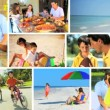 Stock Video: Montage of Healthy Family Lifestyle Activities
