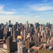 Skyline Aerial Panoramic view of Midtown Manhattan, NY, USA — Stock Video