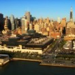 Aerial view of Midtown Manhattan, New York City, America, USA — Stock Video