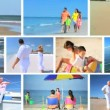 Stock Video: Montage Lifestyle Images of in Outdoor Activities
