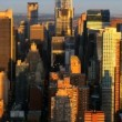 Aerial view of Manhattans Iconic Skyscrapers, New York City, USA — Stock Video #23179844