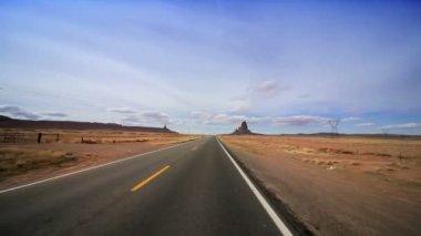 Desert Road Towards Monument Valley — Stock Video