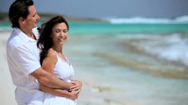 Couple in Love on Paradise Island — Stock Video
