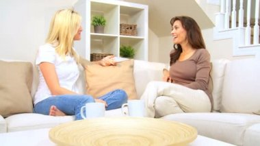 Female Friends in Home Setting — Stock Video