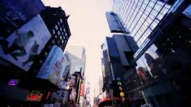 Time Lapse POV Driving Times Square, Broadway, NY, USA — Stock Video