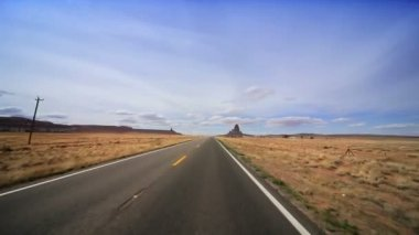Desert Road Towards Monument Valley — Stock Video
