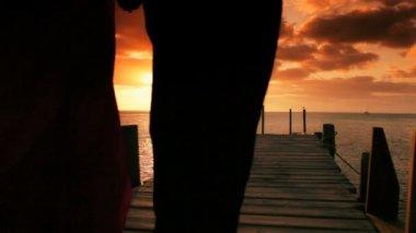 Elegant Couple at Sunset — Stock Video