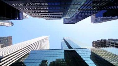 небоскреб башни квартиры в нью-йорке, сша — Стоковое видео