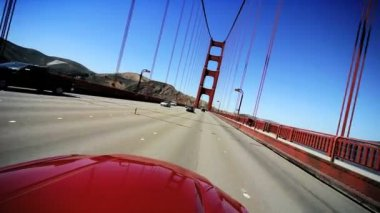 Point-of-View Driving San Francisco's Golden Gate Bridge — Stock Video