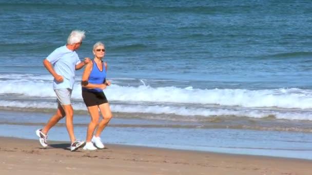 Montage of Senior Couple's Healthy Lifestyle — Vidéo