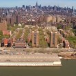 Aerial view of Midtown and Downtown Manhattan, Hudson River, NY, USA — Stock Video