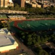 Aerial view of Midtown Manhattan and Sporting areas, NY, USA — Stock Video