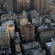 Stock Video: Aerial view of Midtown Manhattan, New York City, America, USA