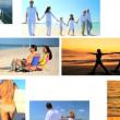 Montage of Beach Lifestyle Activities — Stock Video