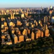 Aerial view of Central Park, West Side, and Midtown Manhattan,NY, USA — Stock Video