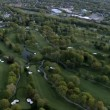 Aerial view of a Golf course and Suburbs of New Jersey, NY,USA - Stock Photo