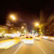 Royalty-Free Stock Vector Image: Time Lapse P.O.V Driving at Night Manhattan, NY, USA