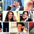 Montage of Business Working With Cell Phones — Stock Video #23181946