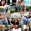 Multiple Montage Images of Business People - Stock Photo