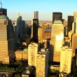 Aerial view of the Financial District, Manhattan and Harbor, NY, USA — Stock Video