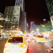 Time Lapse P.O.V Driving at Night Midtown Manhattan, NY, USA — Stock Video