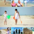 Montage of People Enjoying Lifestyle Vacation Activities - Stock Photo