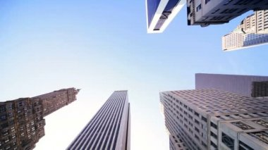 High Elevation View City Buildings — Stock Video