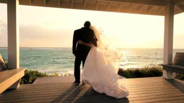 Couples Romantic Island Wedding — Stock Video