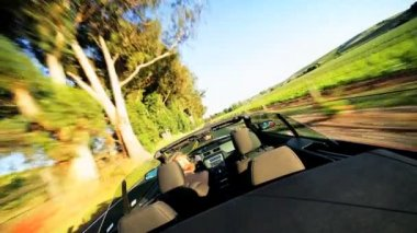 Luxury Car Driving Through Napa Valley — Stock Video