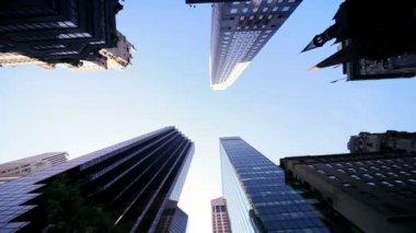 Edificios de apartamentos de ciudad rascacielos — Vídeo de Stock