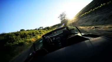 Luxury Driving in the Countryside of Napa Valley — Vídeo Stock