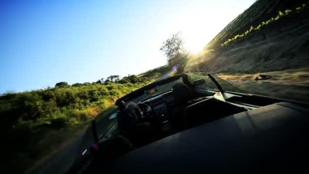 Luxe, conduite dans la campagne de la vallée de napa — Vidéo