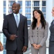 Modern Multi Ethnic Business Team Meeting Together - Stock Photo