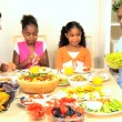 Stock Video: AfricAmericFamily Healthy Eating