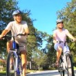 Senior Couple Healthy Cycling Lifestyle - 