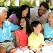 Three Generations of Caucasian Family Leisure Time — Vídeo Stock