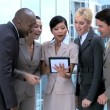 Royalty-Free Stock Imagem Vetorial: Five Multi Ethnic Business Working Together