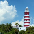 Lighthouse on a Tropical Holiday Island — Stock Video #23247796