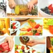Stock Video: Montage Collection of Healthy Food Preparation