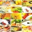 Montage Selection of Healthy Lifestyle Food Choices - Stockfoto