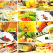 Montage Selection of Healthy Lifestyle Food Choices - Stock Photo