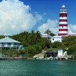 Lighthouse on Tropical Holiday Island — Stock Video