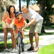 Royalty-Free Stock : African American Child Practicing on his Bicycle