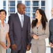 Team of Five Multi Ethnic City Business People - Stock Photo