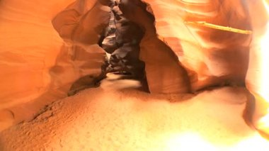 Underground Sandstone Rock Canyons — Stock Video