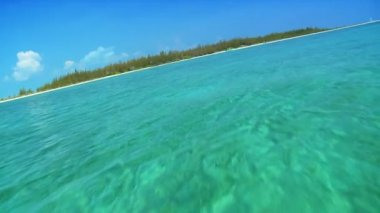 Calm Lagoon Waters & Tropical beach — Stock Video