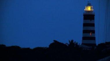 Revolving Light of Island Light House at Dusk — Stock Video