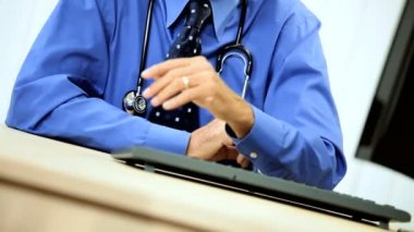 Distinguished Senior Medical Consultant in Portrait — Video Stock