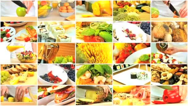 Montage Selection of Healthy Lifestyle Food Choices — Vidéo